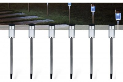 Foto 4- Of 6-Delige Solar LED Tuinlampenset