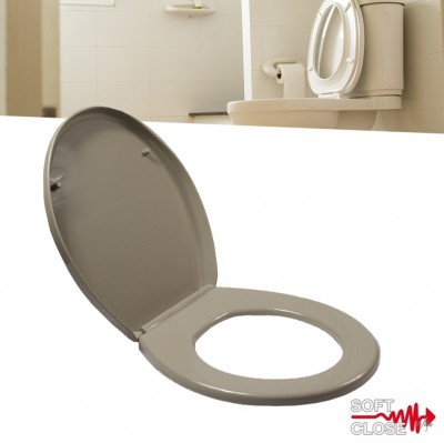 Foto Softclose Toiletbril Deluxe Bruin