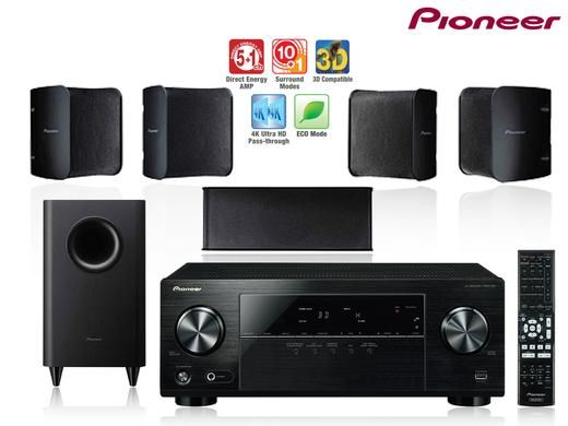 Foto Pioneer 3D AV Receiver m. 5.1 Surround Set