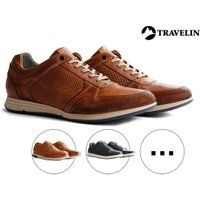 Foto Travelin' Leren Herensneakers