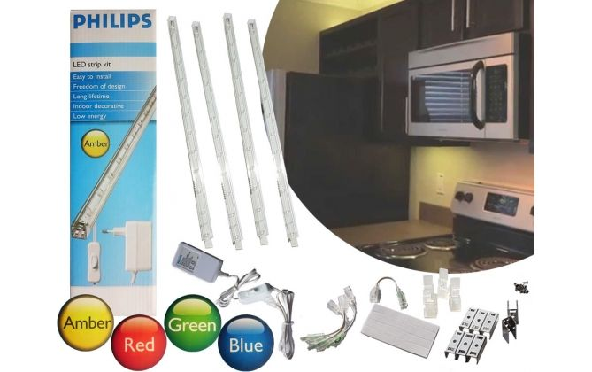 Foto Philips 120 cm LED Strip Kit - 4 Kleuren