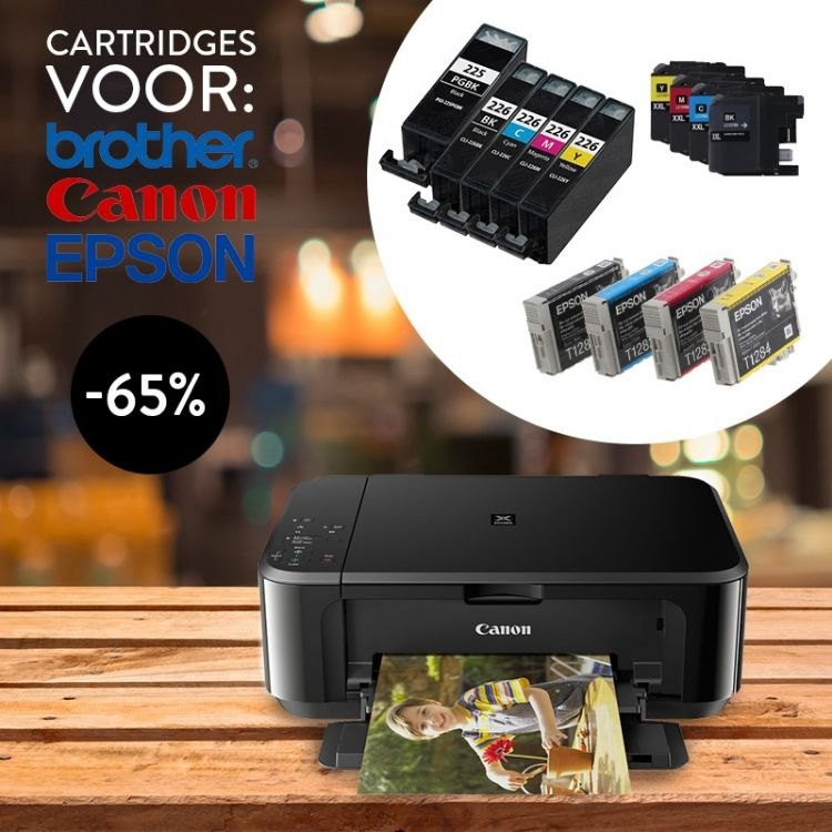 Foto 5 of 6-pack cartridges voor verschillende type printers van Epson, Brother en Canon