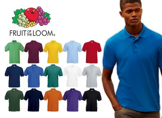 Foto Fruit of the Loom Heren Polo
