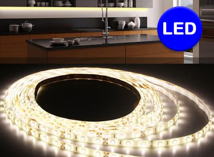 Foto Quintezz 3 meter dimbare en flexibele led-strip - Warm wit licht met afstandsbediening