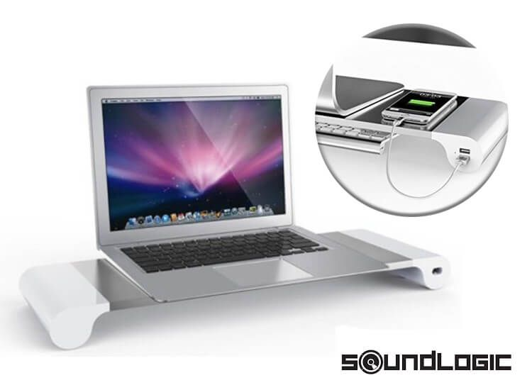 Foto Soundlogic space bar - Monitorstandaard met 4 USB laadpunten
