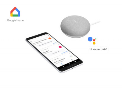 Foto Google home mini - Assistant mini speaker - Ondersteunt Nederlands - Wit