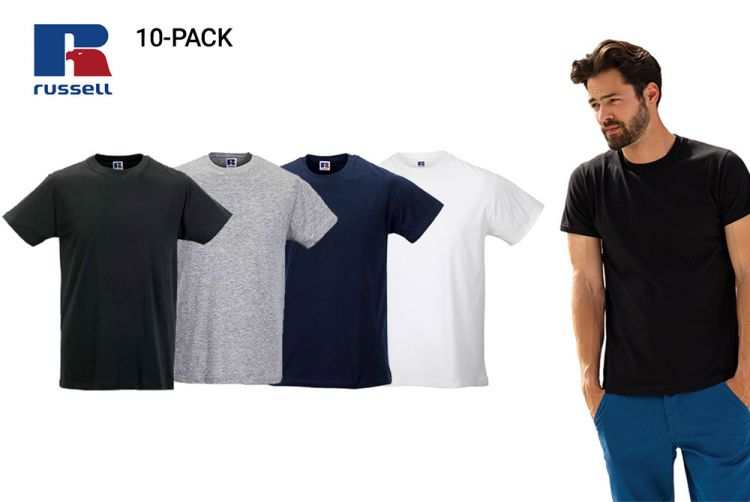 Foto 10-pack Kwaliteits T-shirts van Russell Athletic