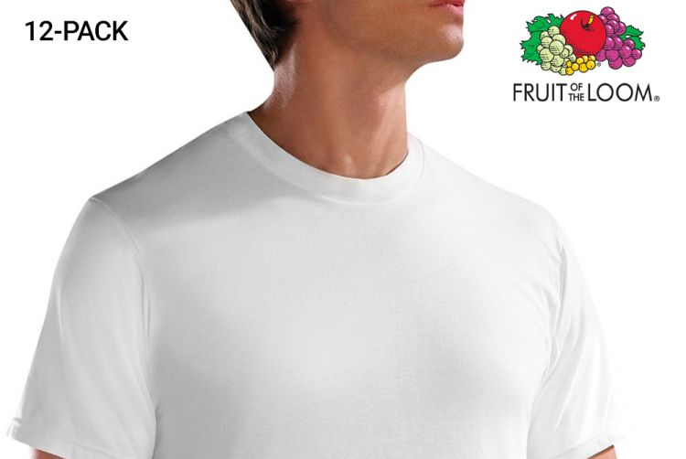 12-pack T-shirts van Fruit of the Loom afbeelding