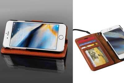 Foto Luxe Lederen Wallet-Case voor iPhone