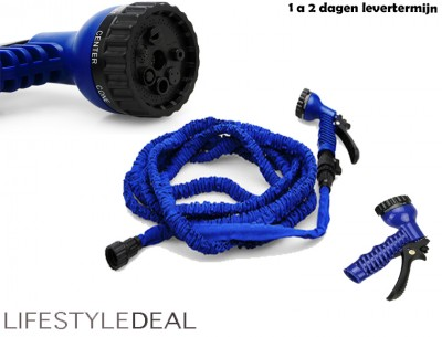 Foto Flexibele tuinslang - Magic hose 30 meter - Blauw