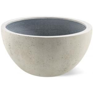Foto Grigio plantenbak Low Egg pot M antiek wit betonlook