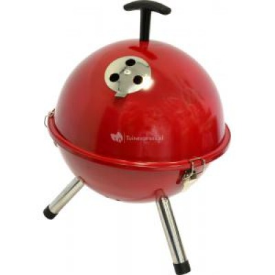 Foto Tafelbarbecue rond rood