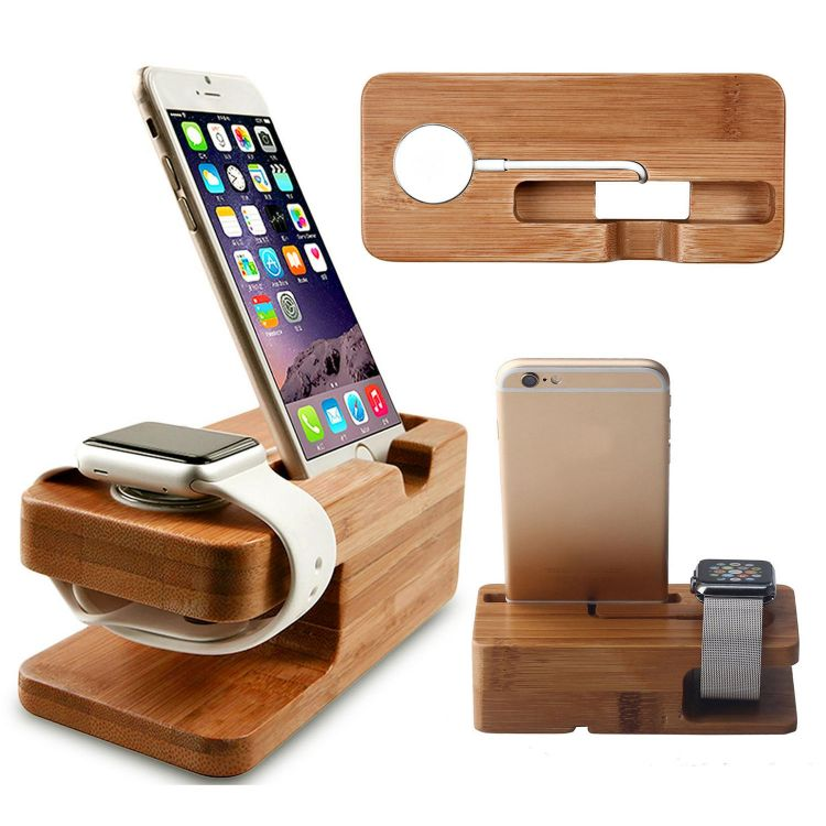Foto Houten Watch en Phone houder