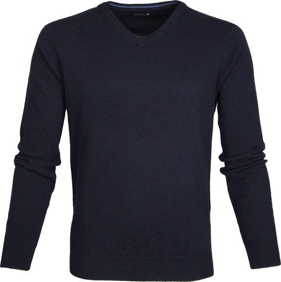 Foto Suitable Pullover Lamswol V-Hals Navy