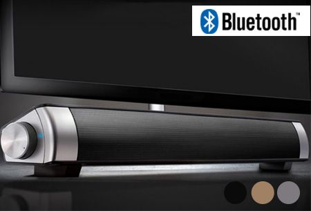 Foto Draadloze Bluetooth soundbar speaker in de sale