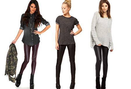 Foto Leather Look legging nu heel voordelig!