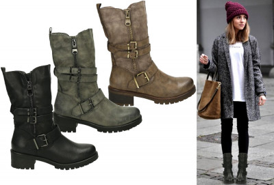 Foto 69% korting - Zip up biker boots