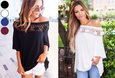 Foto Elegance off shoulder top nu in de sale!