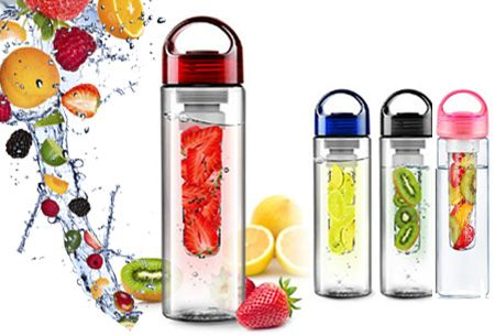 Foto Waterfles met fruit filter nu slechts €6,95!
