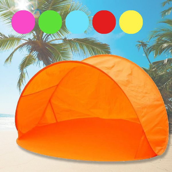 Foto Pop-up strandtent, beach shelter met draagtas