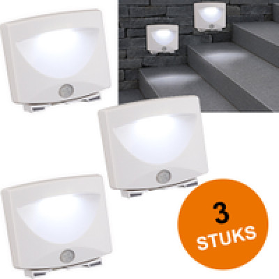 Foto Trapverlichting, LED lamp met sensor, 3-delige set