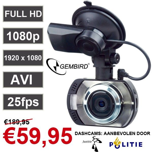 Foto Full HD 1080p Dashcam met GPS tracker
