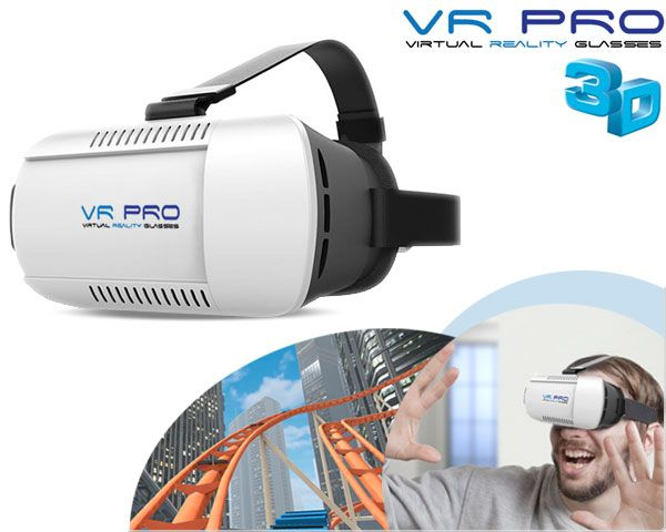 Foto Vr pro virtual reality 3d-​​bril met bluetooth remote