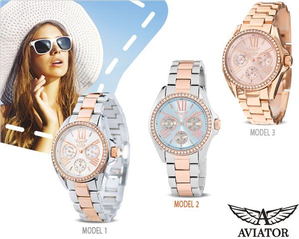 Foto Elegante aviator dameshorloges