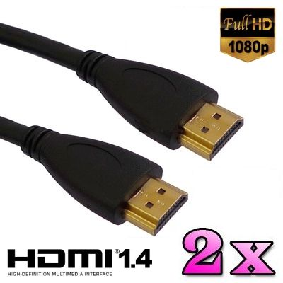 Foto Set van 2x HDMI 1.4 kabels