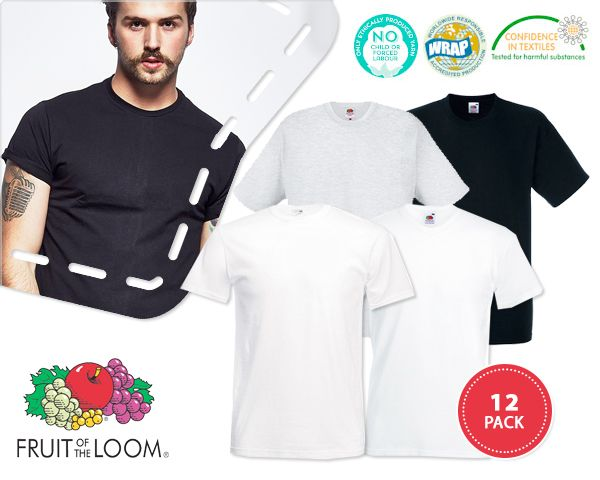 Foto 12-​pack fruit of the loom t-​shirts
