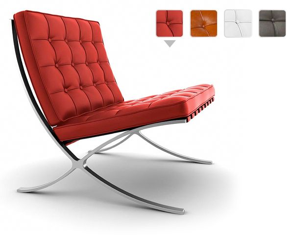 Foto Luxe en chique pavilion chair en/of hocker