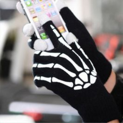 Foto Touchscreen Skeleton Gloves