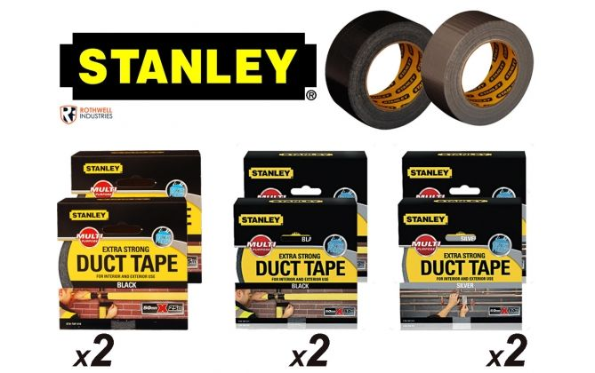 Foto 2 Rollen Stanley Duct Tape Extra strong