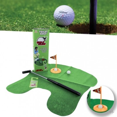 Foto Unieke Toilet Golf Set