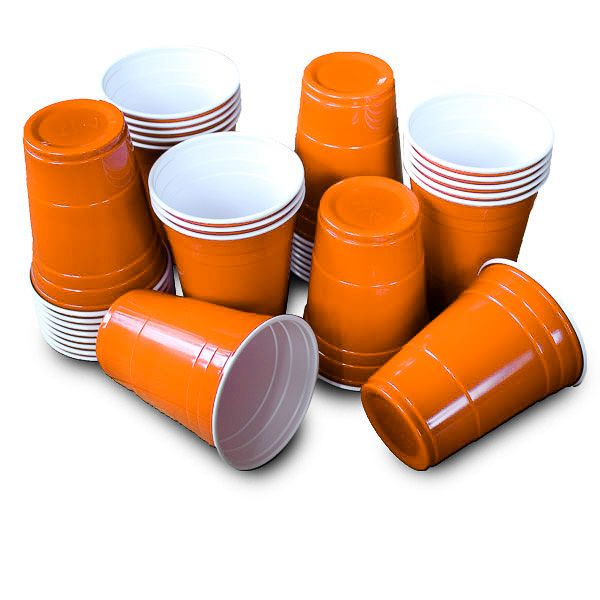 Foto 50 Amerikaanse Party Cups - Oranje