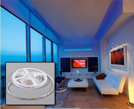Foto 29,95 euro ipv 119,95 euro - Grundig colour Led strip 5 meter 180 leds inclusief afstandsbediening