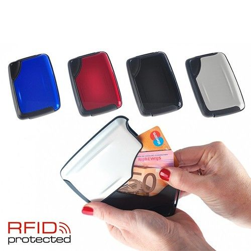 Foto 2-Pack Aluminium Slide Wallets met Skim-Preventie