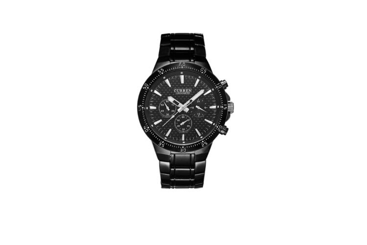 Foto Curren Black Steel herenhorloge