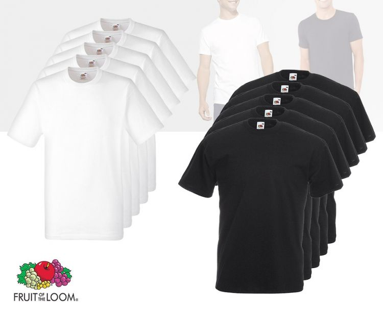 Foto 12-pack T-shirts Van Fruit Of The Loom - 100% Katoen!