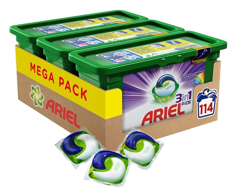 MEGA PACK Ariel 3-In-1 Pods - Keuze Uit Colour Of Regular! afbeelding