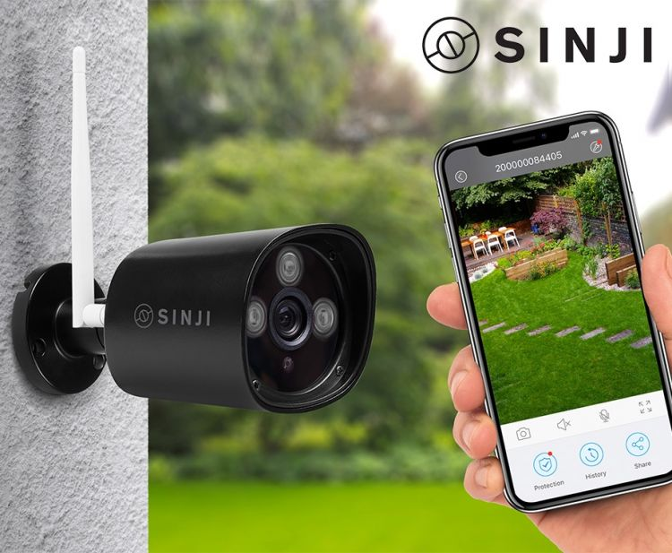 Sinji Outdoor Smart Wifi Camera - 24/7 HD Bewaking! afbeelding