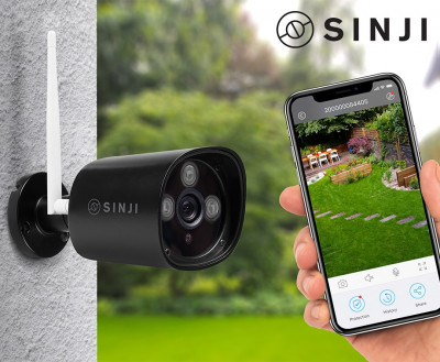 Foto Sinji Outdoor Smart Wifi Camera - 24/7 HD Bewaking!
