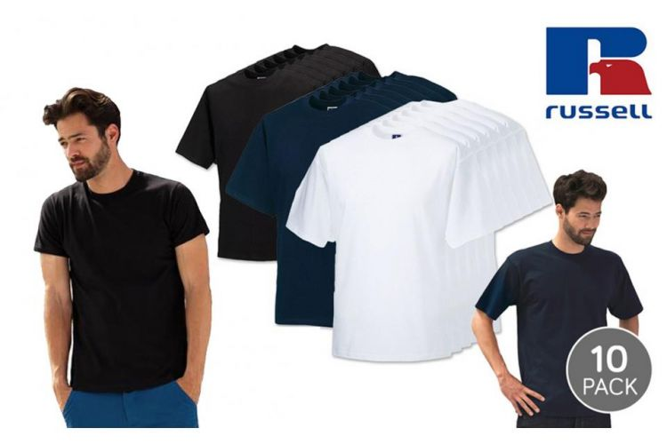 Foto 10-Pack Slim Fit T-Shirts