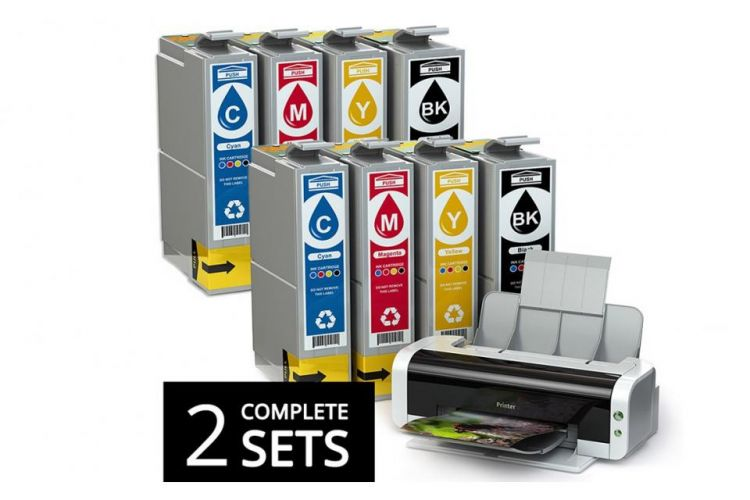 Foto 2 Sets Cartridges Voor HP, Epson, Brother & Canon Printers