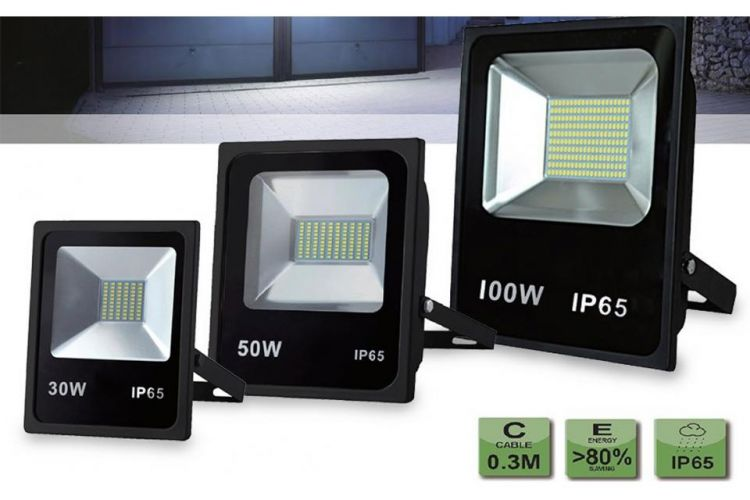 Foto Extreem Felle 10W, 30W, 50W Of 100W LED Stralers