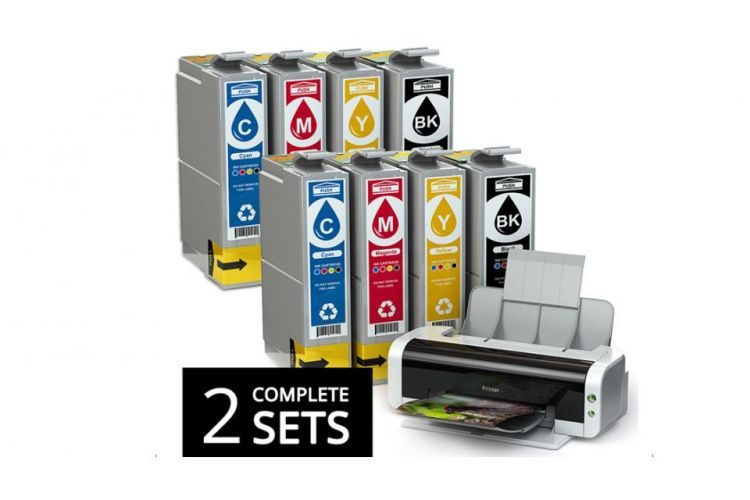 Foto 2 Sets Cartridges Voor Brother Printers
