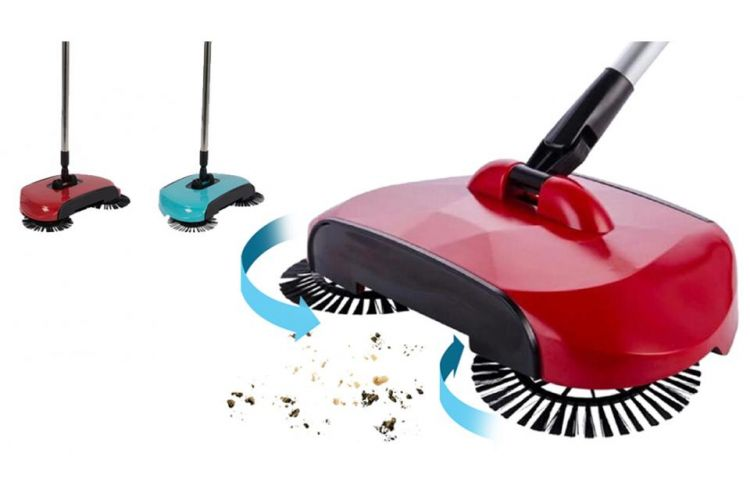 3-In-1 Sweeper - Veger, Stoffer En Blik In Eén afbeelding