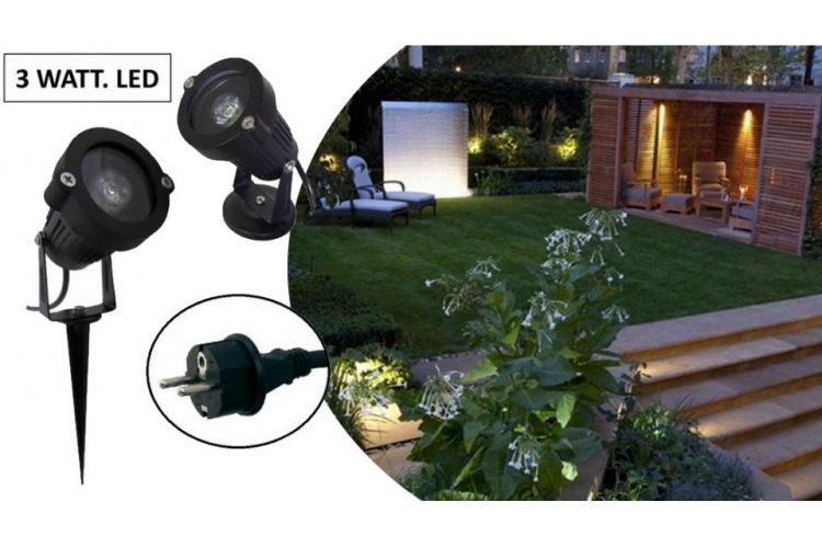 Foto Multifunctionele LED Buitenlampen Met Spies