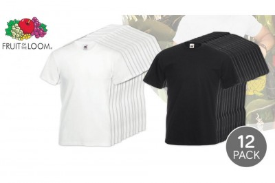 Foto Fruit of the Loom 12-pack T-shirts Van 100% Katoen