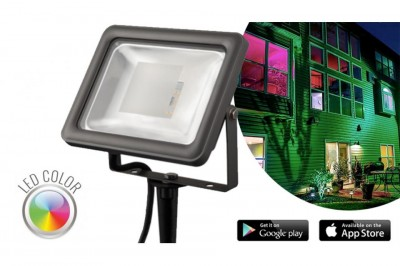 Foto LED RGB Floodlight 700 Lumen - Met Bluetooth En App